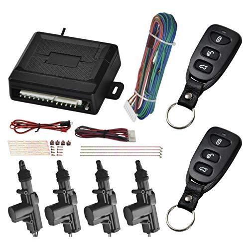 Wakauto 1 set deurvergrendeling voor voertuig, universele afstandsbediening, centrale vergrendeling, zonder sleutel…