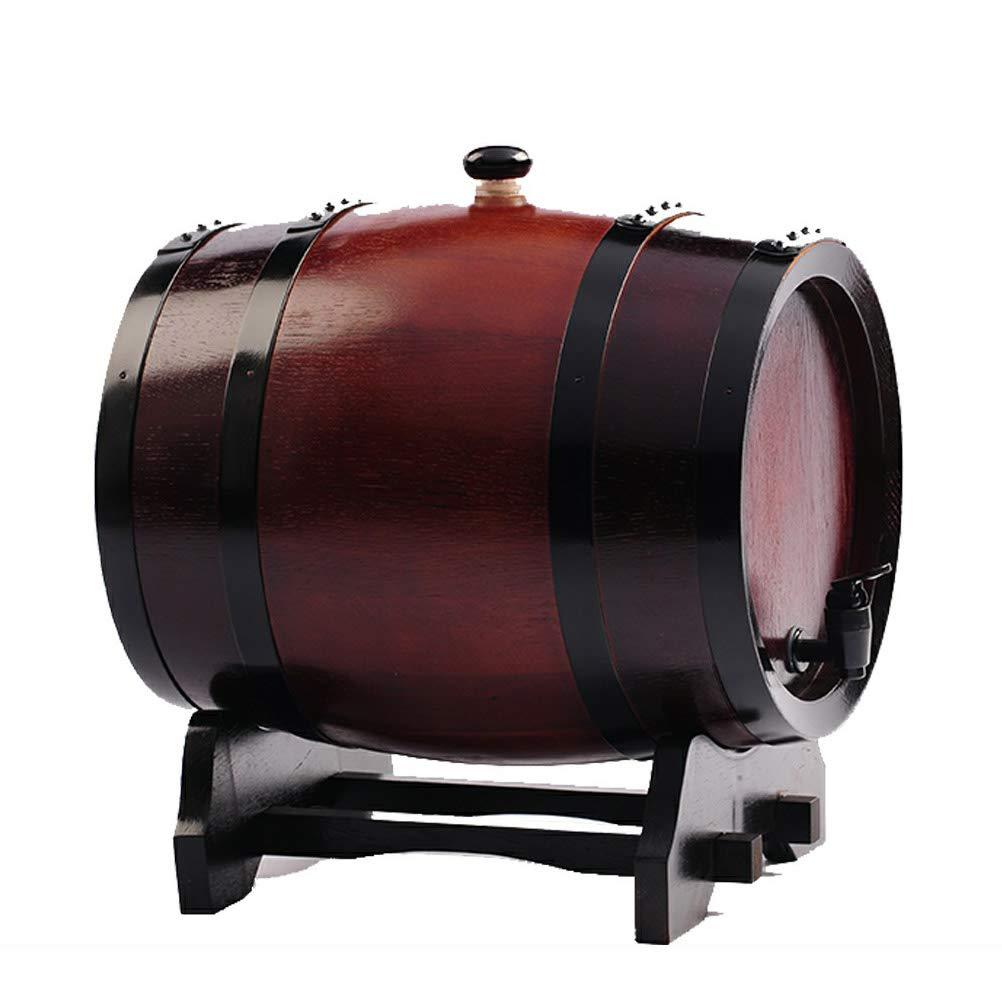 Yilian Jiutong Boldless Oak Wine Barrel 3 liters 5 liters 10L20L30 liters Baking Oak Barrels Wine Barrels self-Brewed Wine Barrels Wine (Color : C, Size : 5L)