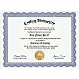 Cycling Cyclist Degree: Custom Gag Diploma Doctorate Certificate (Funny Customized Joke Gift - Novelty Item)