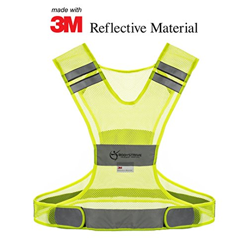 BODYSTRIVE Reflective Vest - MADE OF REAL 3M SCOTCHLITE...
