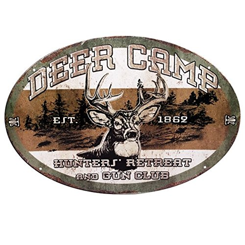 Rivers Edge Products Deer Camp Tin Sign 12