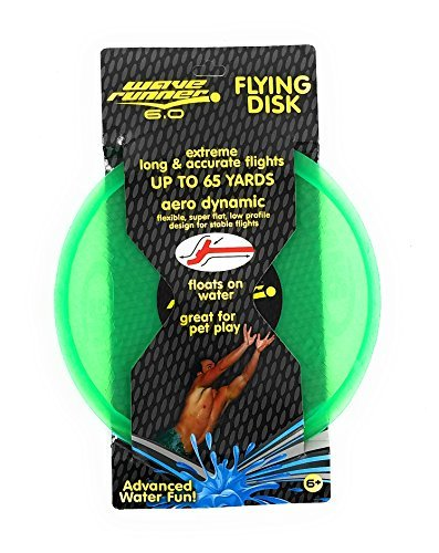 Wave Runner 6.0 Aero Dynamic Flying Disk In Green by Flash