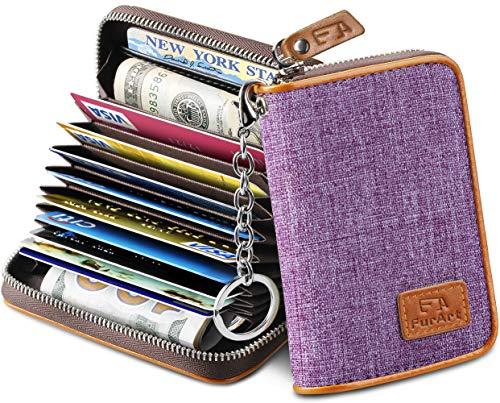 FurArt Credit Card Wallet, Zipper Card Cases