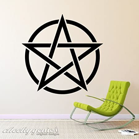 Wicca Wiccan Pentagram Pentacle Pagan Witchcraft Vinyl Wall Art ...