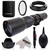 Super 500mm/1000mm f/8 Manual Telephoto Lens for Samsung Galaxy NX, NX1, NX3000, NX2000, NX500, NX300, NX210, NX30 and other NX Mount Mirrorless Digital Cameras