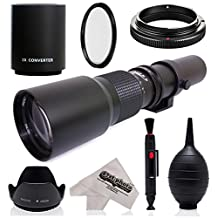 Super 500mm/1000mm f/8 Manual Telephoto Lens for Pentax K-S2, K-S1, K-500, K-50, K-30, K5 IIs, K-7, K-5, K-3 II, K-2, K-X, K20D, K100D, K110D and K10D Digital SLR Cameras