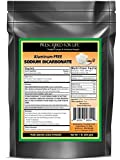 Sodium Bicarbonate - Natural Process USP No. 1 Food Grade Aluminum-Free (Baking Soda) ING: Organic Powder, 1 lb