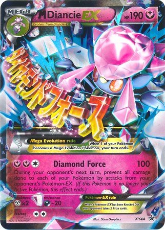 Pokemon Mega Diancie Ex Xy44 Pokemon Oversized