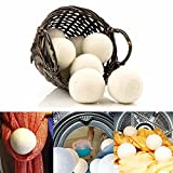 Katoot@ 6pcs/pack Laundry Clean Ball Reusable Natural Organic Laundry Fabric Softener Ball Premium Organic Wool Dryer Balls