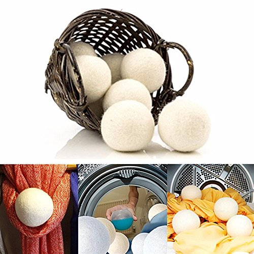 Organic Wool Dryer Balls - Handmade Felted -