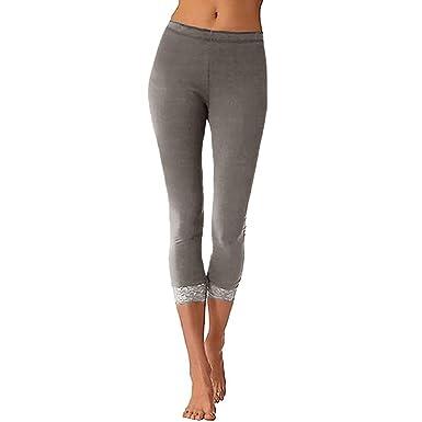 Pantalons de Leggings de Yoga de Sport Mode Femmes Dentelle Sexy Leggings  Skinny Long Pantalon Taille Haute Gym GreatestPAK  Amazon.fr  Vêtements et  ... 998e1d6c18f