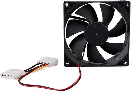 Ventilador silencioso para CPU de Ordenador de 12 V, 4 Pines, 90 ...