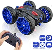 MaxTronic Remote Control Stunt Car, RC Car Toy 15km/h All Terrain Off Road 4WD Double Sided Running, 360° Rota