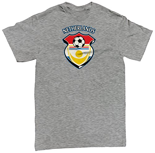 Netherlands Country Soccer Shield Men's T-shirt, SpiritForged Apparel, Light Gray (Limburg Light)