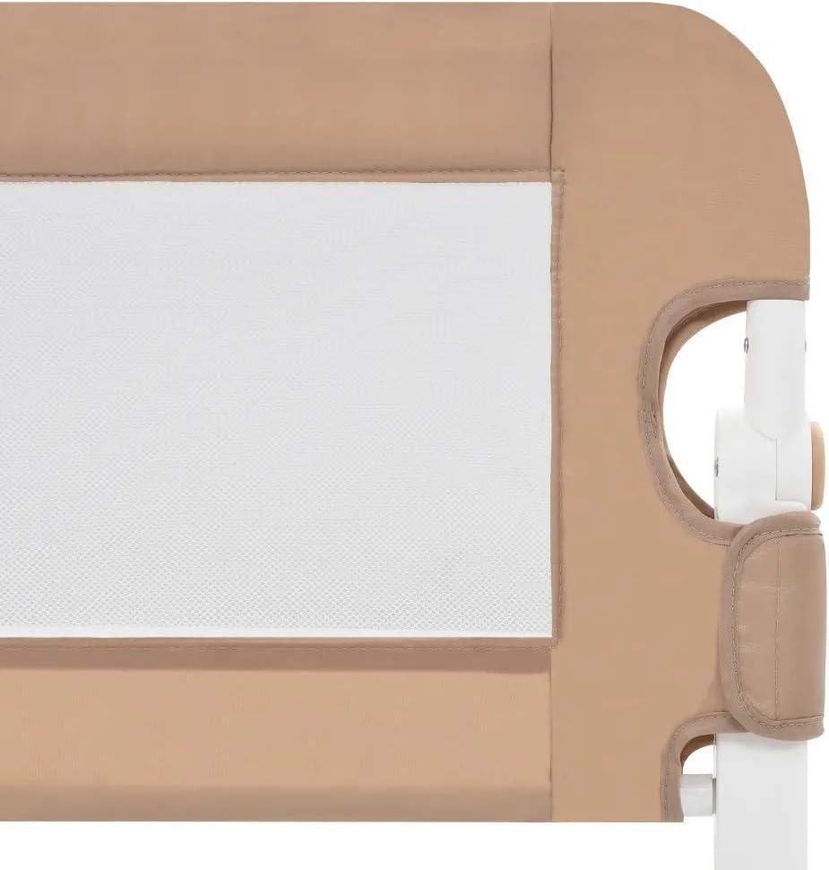 Gris, 102 x42cm Barandilla Plegable de La Cama Infantil SOULONG Barandilla de La Cama Guardia de Seguridad para Ni/ños