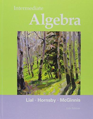 Intermediate Algebra, and MyMathLab/MyStatLab -- Valuepack Access Card, Student's Solutions Manual for Intermediate Alge