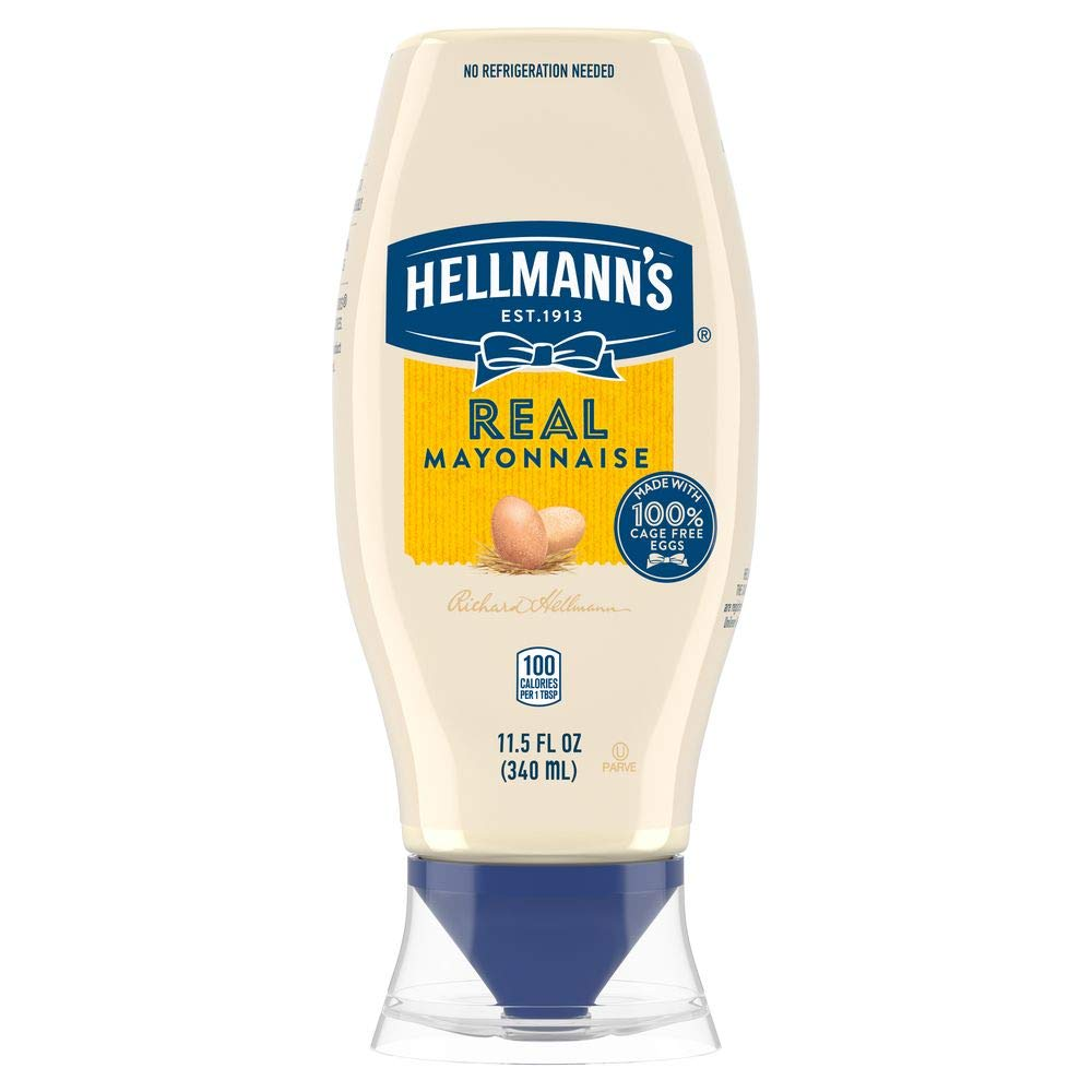 Hellmann's Mayonnaise Squeeze Bottle Real 11.5 oz, Pack of 12