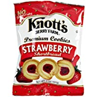 Knott's Berry Farm Strawberry Shortbread Cookies, 2 Oz (Pack of 12)