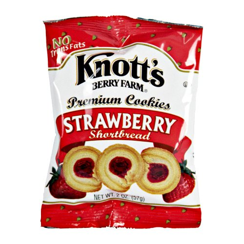 Knott S Berry Farm Strawberry Shortbread Cookies 2 Oz Pack Of 12 Amazon Com Grocery Gourmet Food