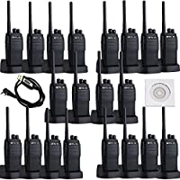 Retevis RT21 2 Way Radio UHF 400-480MHz Scrambler 16 CH CTCSS/DCS VOX Scan Squelch Rechargeable Walkie Talkies(20 Pack) and Programming Cable