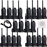 Retevis RT21 2 Way Radios UHF 400-480MHz Scrambler Radio 16CH CTCSS/DCS VOX Scan Squelch Walkie Talkies(20 Pack) and Programming Cable