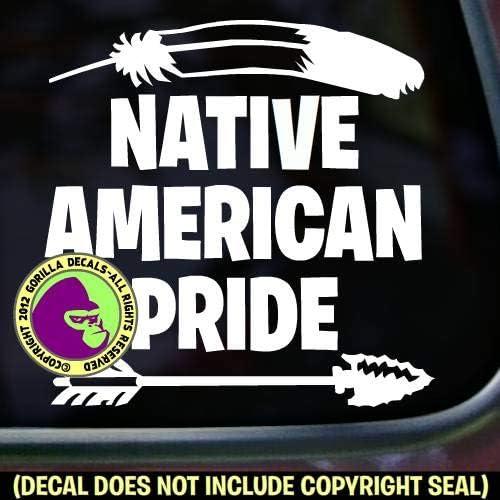 "Native American 8 1//2/"" Native Pride Car Decal"
