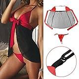Yoshop(TM) Sex Women Underwear Lady Sexy Lingerie Transparent Conjoined Dress Suit SV
