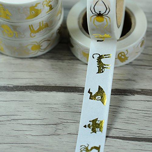 Halloween Shining Gold Blocking Washi Paper Masking Tape Party Decoration (Halloween Decorations Etsy)