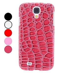 Grano del cocodrilo Caso duro del patrón para Samsung i9500 Galaxy S4 , Rojo