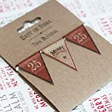 East Of India Mini Christmas Bunting Merry Christmas Decoration 1M