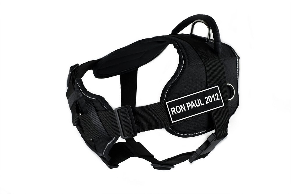 Dean & Tyler 28 to 34-Inch Ron Paul 2012  Fun Harness with Padded Chest Piece, Medium, Black