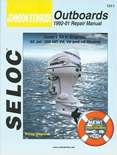 johnson/evinrude outboards, all v engines, 1992-01 1st edition