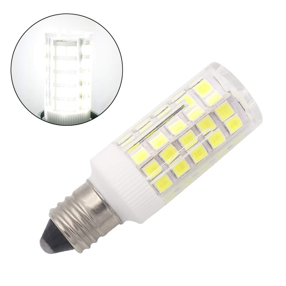 Grv E11 Led Bulb Light 4W AC 110V -120V 64-2835 SMD Microwave Oven Ceramics Bulbs Dimmable 40W Equivalent Replacement Incandescent Bulb Cool White Pack of 10