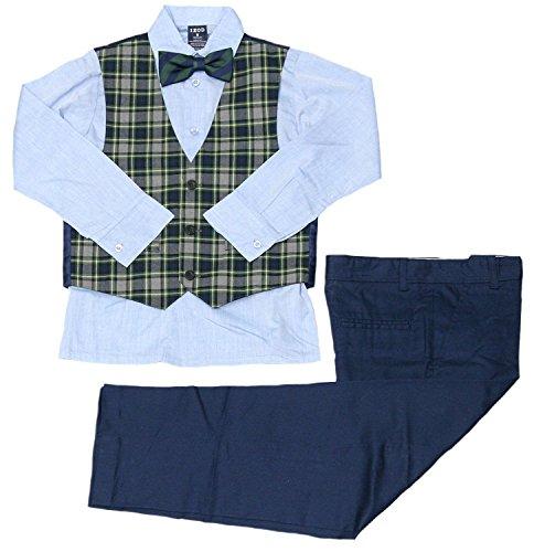 IZOD Boys' Four Piece Formal Vest Set (Big/Little/Toddler/Baby) (Dark Green, 5)
