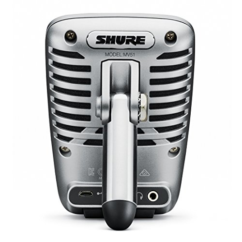 Shure-MV51-Digital-Large-Diaphragm-Condenser-Microphone-Bundle-with-Shure-SRH440-Professional-Studio-Headphones-and-Mic-Stand-Portable-Podcast-Package-3-items