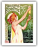 "First printed in 1896, Henri Privat-Livemont's iconic ""Absinthe Robette"" poster is easily one of the most recognizable images associated with absinthe and with art nouveau in general. It depicts a classically-styled maiden in a sheer gown receiving a..."