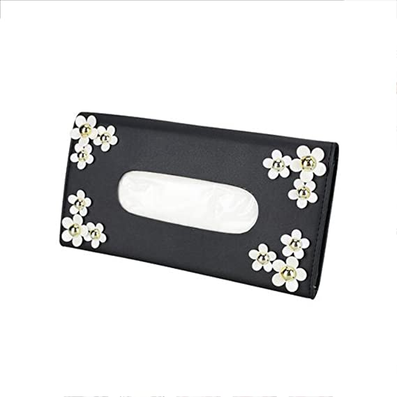 Amazon.com: luckyshd coche caja de pañuelos de piel soporte ...