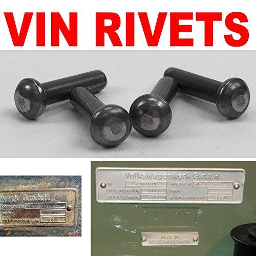 Vintage 159030 Name Plate Rivet (VPARIV1 Vin Tag / Set of (Nos Vintage Steel)