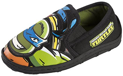Nicelodeon Boys Teenage Mutant Ninja Turtles Slippers Slip On Leonardo UK Child 11 ()