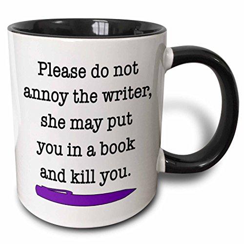 3dRose mug_223959_4 Please Writer Purple