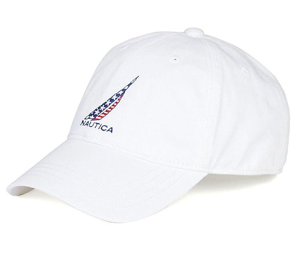 b653bb576c40a Nautica Mens Americana J-Class Logo Adjustable Cap Hat (One Size ...