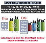 One MissionX Straw Lid & Silicone Flex Boot