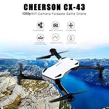 FairOnly CX-43 - Dron teledirigido con cámara HD, Plegable, con ...