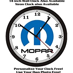 MOPAR LOGO WALL CLOCK-DODGE-PLYMOUTH-CHRYSLER-FREE USA SHIP!