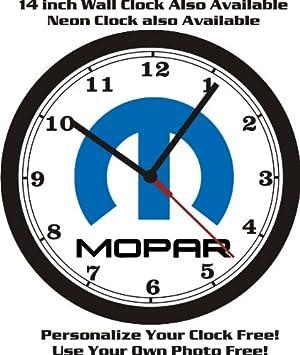 MOPAR LOGO WALL CLOCK-DODGE-PLYMOUTH-CHRYSLER-FREE USA SHIP