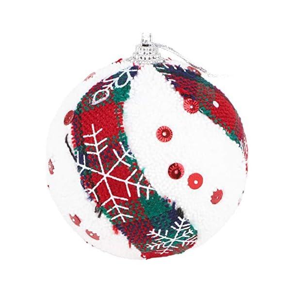 Christmas Concepts® Confezione da 6 Palline di Natale in Design Scozzese - Decorazioni Natalizie di Lusso (Fiocco di Neve) 5 spesavip