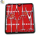G.S 10 PIECES PROFESSIONAL BODY EAR PIERCING NAVEL TOOLS PLIERS CLAMPS FORCEPS KIT