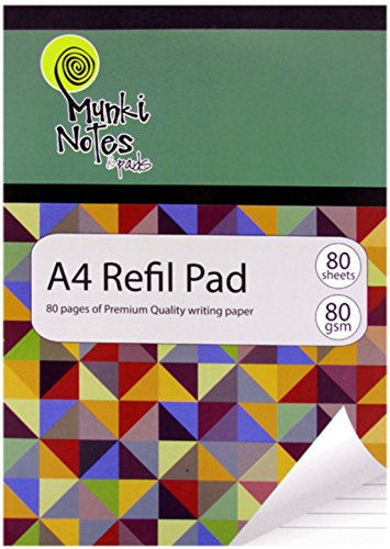 MUNKI NOTES A4 80 GSM 80 Sheets Triangles Design