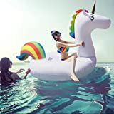 Best Toys For Adults - Asamoom Giant Inflatable Unicorn Pool Float, Inflatable Float Review