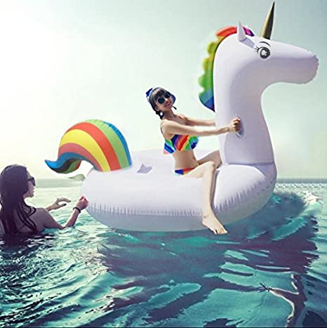Meiqils Juguete Hinchable Flotante Gigante del Unicornio ...